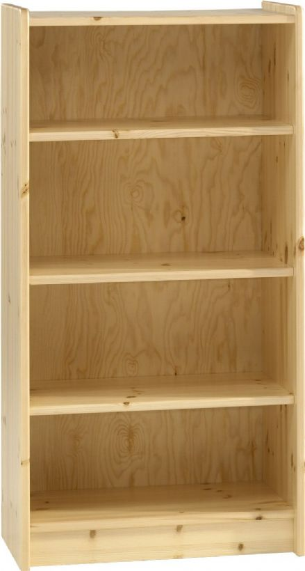 Pine or White Tall Bookcase